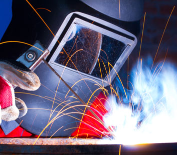 Welding fumes contain particles from the electrode and particles from the work piece.